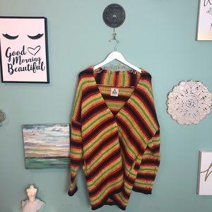UNIF Bright Multicolor Striped Knit Sweater S H1